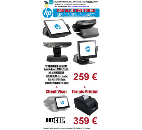 POS All In One Touch HP RP7800